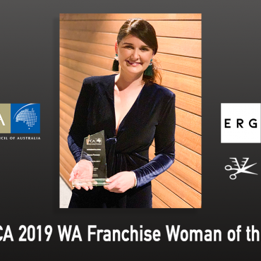 Bianca Panozzo of Salon Express/Barbershop Express is FCA 2019 WA Franchise Woman of the Year